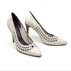 NEW Tracy Reese Audrey Woven Leather Pump